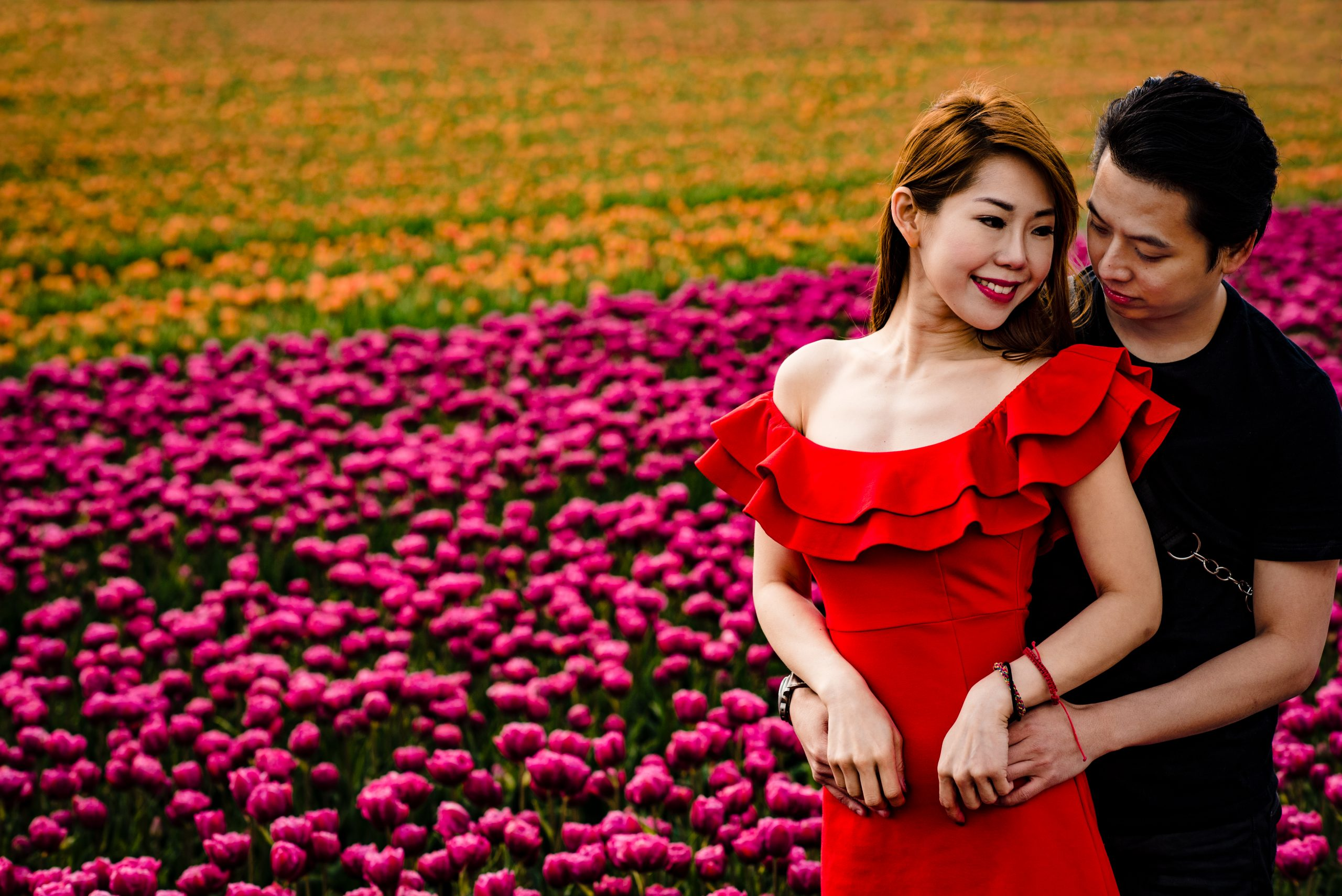 Photoshoot in the Amsterdam Tulip fields